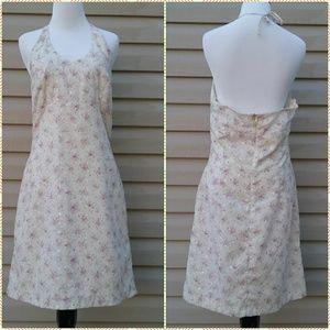 Vintage Alyn Paige Floral Halter Dress